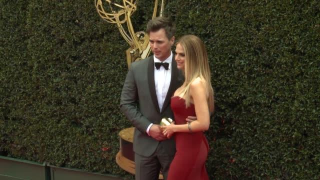 Kelly Kruger and Darin Brooks at the 2018 Daytime Emmy Awards at Pasadena Civic Auditorium on April 29 2018 in Pasadena California