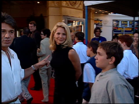 kelly lebrock at the 'wrongfully accused' premiere at the mann village theatre in westwood california on august 19 1998 - kelly lebrock stock videos & royalty-free footage