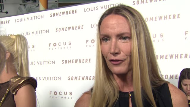 kelly lynch on louis vuitton and marc jacobs at the 'somewhere' premiere at hollywood ca. - kelly lynch stock videos & royalty-free footage
