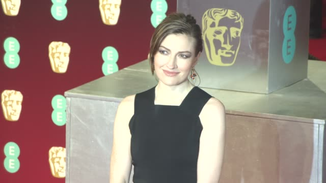 kelly macdonald at ee british academy film awards at royal albert hall on february 12 2017 in london england - royal albert hall stock videos and b-roll footage