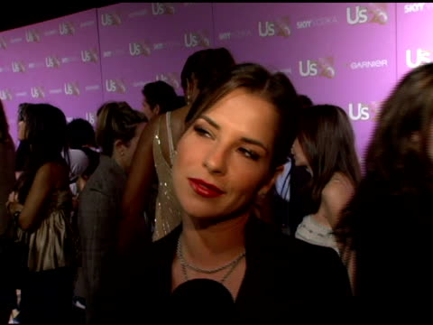kelly monaco on her favorite person on the us weekly hot 20 list, her television show, and on her emmy weekend plans at the us weekly's young... - us weekly stock videos & royalty-free footage