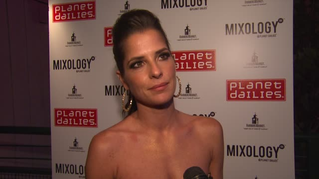 kelly monaco on returning, judge's scores, the after party at joey fatone and kym johnson host after party for premiere of dancing with the stars at... - judge entertainment stock videos & royalty-free footage