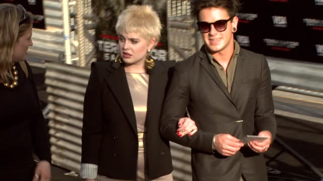 kelly osbourne and guest at the 'terminator salvation' premiere at hollywood ca. - terminator stock videos & royalty-free footage