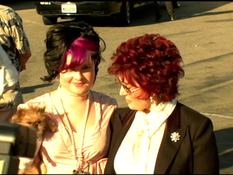 Kelly Osbourne and Sharon Osbourne at the 2004 Teen Choice Awards arrivals at the Universal Amphitheatre in Universal City California on August 8 2004
