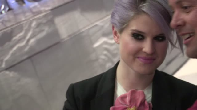 kelly osbourne arrives at the ritz carlton in los angeles 03/12/12 - kelly osbourne stock videos and b-roll footage