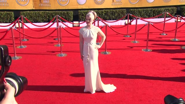 kelly osbourne at 18th annual screen actors guild awards arrivals on 1/29/2012 in los angeles ca - kelly osbourne stock videos and b-roll footage