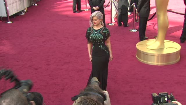 kelly osbourne at 84th annual academy awards arrivals on 2/26/12 in hollywood ca - kelly osbourne stock videos and b-roll footage