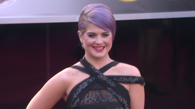 kelly osbourne at 85th annual academy awards arrivals in hollywood ca on 2/24/13 - kelly osbourne stock videos and b-roll footage