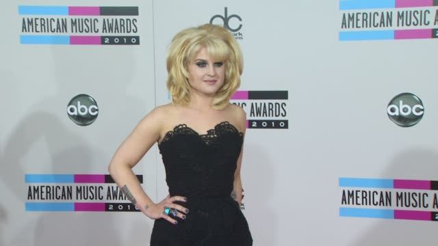 kelly osbourne at the 2010 american music awards arrivals at los angeles ca - american music awards stock videos and b-roll footage