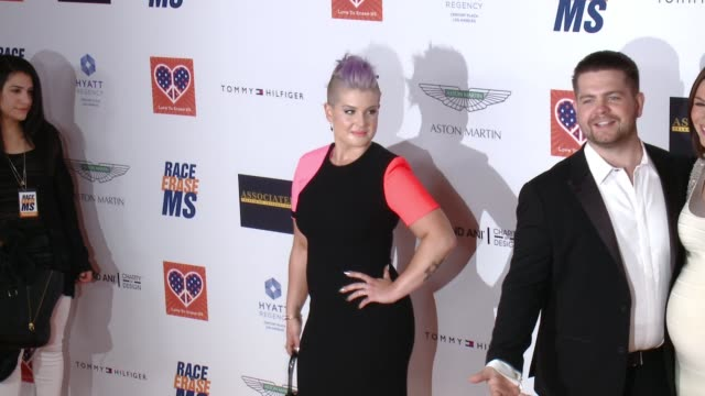 kelly osbourne at the 22nd annual race to erase ms in los angeles ca - race to erase ms stock videos and b-roll footage