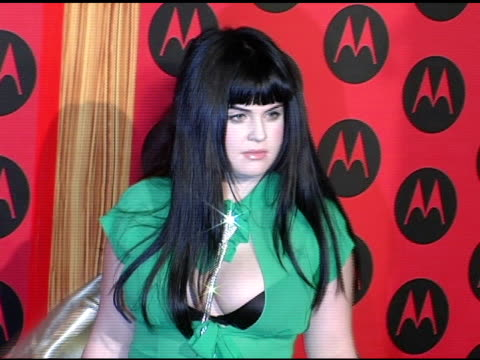 kelly osbourne at the motorola 6th anniversary holiday party arrivals at the music box theater in hollywood california on december 2 2004 - kelly osbourne stock videos and b-roll footage
