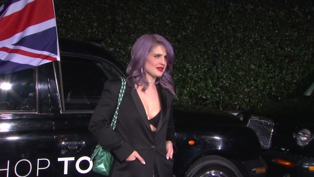 kelly osbourne at topshop topman la opening party at cecconi's on 2/13/2013 in los angeles ca - kelly osbourne stock videos and b-roll footage