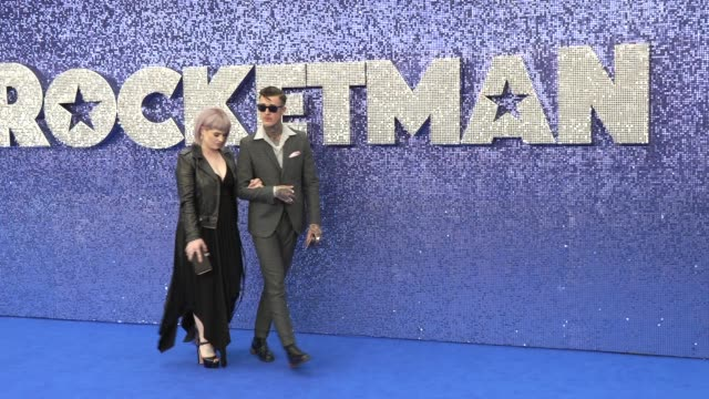 kelly osbourne jimmy q at odeon luxe leicester square on may 20 2019 in london england - elton john stock videos & royalty-free footage