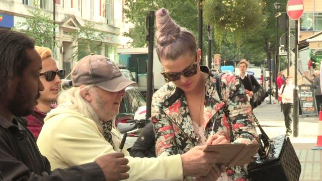 kelly osbourne at bbc radio studios on september 17 2012 in london england - kelly osbourne stock videos and b-roll footage