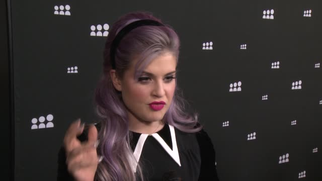 interview kelly osbourne on the new myspace at new myspace launch event on 6/12/13 in los angeles ca - kelly osbourne stock videos and b-roll footage