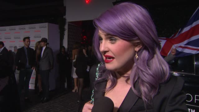 interview kelly osbourne on topshop coming to los angeles at topman la opening party at cecconi's on 2/13/2013 in los angeles ca - kelly osbourne stock videos and b-roll footage