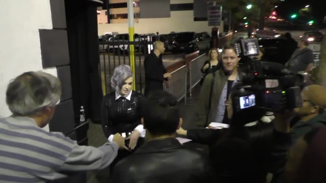 kelly osbourne outside avalon nightclub in hollywood in celebrity sightings in los angeles - kelly osbourne stock videos and b-roll footage