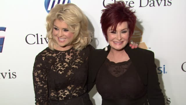 Kelly Osbourne Sharon Osbourne at the PreGRAMMY Gala Salute To Industry Icons With Clive Davis Honoring David Geffen at Beverly Hills CA