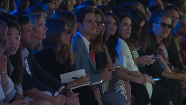kelly osbourne zac posen heidi klum zendaya and front row guests watch models walk the runway at project runway september 2016 new york fashion week... - heidi klum stock videos and b-roll footage
