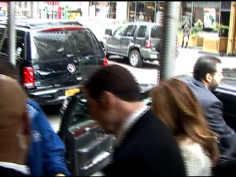 Kelly Preston and John Travolta arrive at the press conference for the new John Gotti bio film in New York 04/12/11
