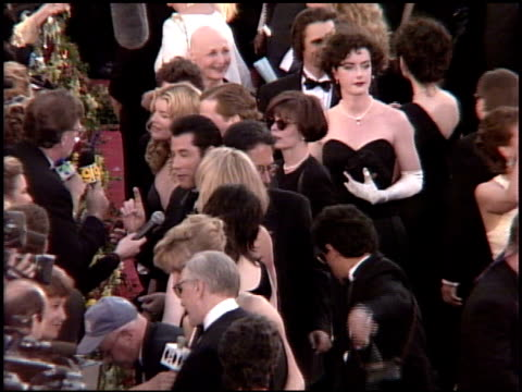 kelly preston at the 1995 academy awards arrivals at the shrine auditorium in los angeles, california on march 27, 1995. - shrine auditorium stock videos & royalty-free footage