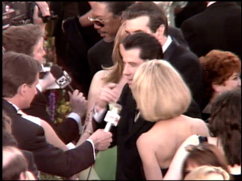 kelly preston at the 1995 academy awards arrivals at the shrine auditorium in los angeles california on march 27 1995 - 67th annual academy awards stock videos & royalty-free footage