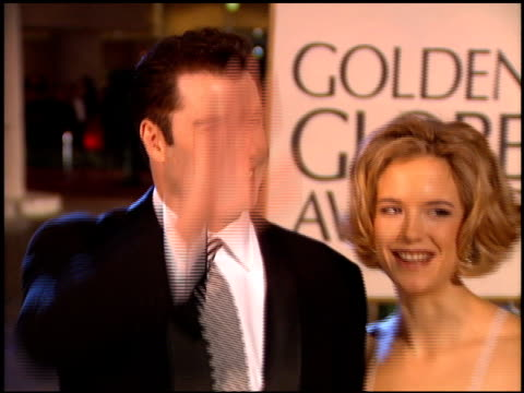 kelly preston at the 1995 golden globe awards at the beverly hilton in beverly hills california on january 21 1995 - kelly preston stock-videos und b-roll-filmmaterial