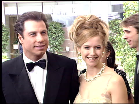 kelly preston at the 1996 golden globe awards at the beverly hilton in beverly hills california on january 21 1996 - kelly preston stock-videos und b-roll-filmmaterial
