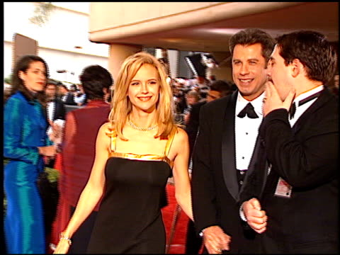 kelly preston at the 1997 golden globe awards at the beverly hilton in beverly hills california on january 19 1997 - kelly preston stock-videos und b-roll-filmmaterial