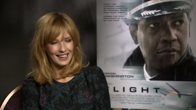 interview kelly reilly on her favouite robert zemeckis film at the flight junket in london on 17th january 2013 - robert zemeckis stock videos and b-roll footage