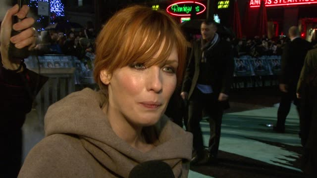 kelly reilly on sherlock holmes being an iconic character on working with jude law and robert downey jr at the sherlock holmes uk premiere at london... - sherlock holmes stock videos & royalty-free footage