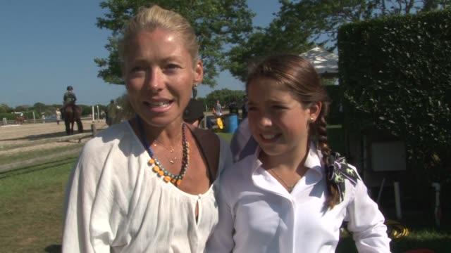 kelly ripa and daughter lola at hampton classic at hampton classic on august 28 2012 in bridgehampton new york - bridgehampton stock videos & royalty-free footage