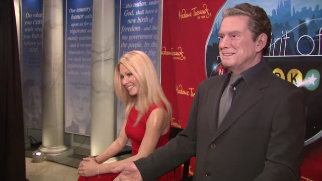 kelly ripa and regis philbin wax figures at the the spirit of new york exhibit opening kelly ripa wax figure unveiling at madame tussauds at new york... - regis philbin stock videos and b-roll footage