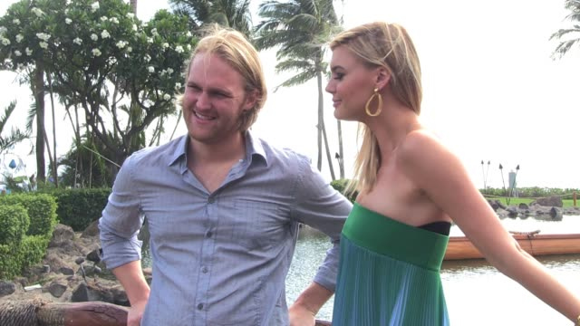 kelly rohrbach and wyatt russell on june 15 2016 in wailea hawaii - wyatt russell stock videos and b-roll footage