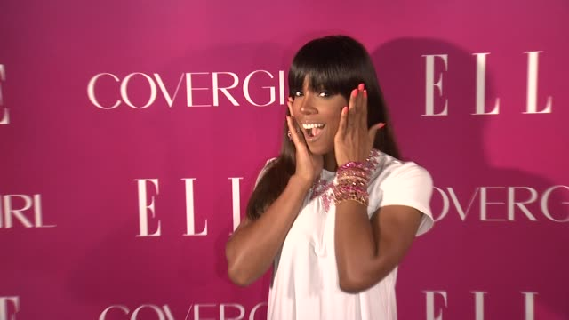 kelly rowland 4th annual elle women in music celebration arrivals at the edison ballroom on april 10 2013 in new york new york - edison ballroom stock videos & royalty-free footage