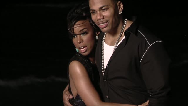 stockvideo's en b-roll-footage met kelly rowland and nelly at the nelly video shoot in cancun, mexico at cancun . - kelly rowland