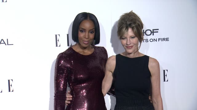 stockvideo's en b-roll-footage met kelly rowland and robbie myers at 23rd annual elle women in hollywood celebration at four seasons hotel los angeles at beverly hills on october 24,... - kelly rowland