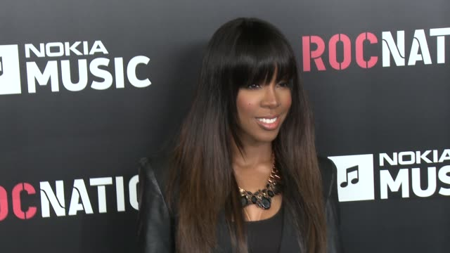 stockvideo's en b-roll-footage met kelly rowland at 2013 roc nation pre-grammy brunch 2/9/2013 in west hollywood, ca. - kelly rowland