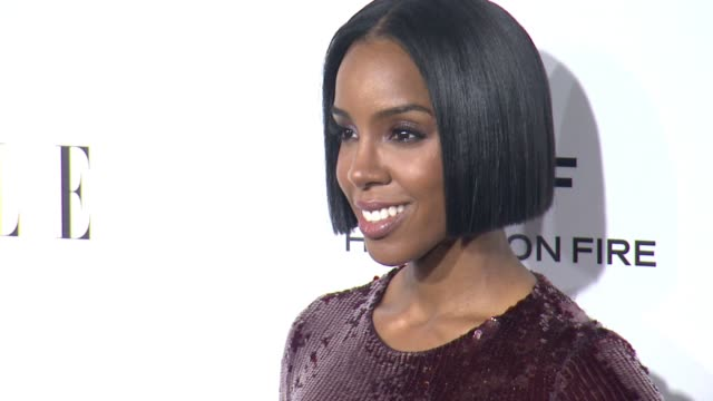 stockvideo's en b-roll-footage met kelly rowland at 23rd annual elle women in hollywood celebration at four seasons hotel los angeles at beverly hills on october 24, 2016 in los... - kelly rowland