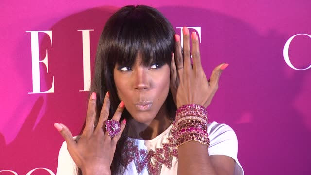 kelly rowland at 4th annual elle women in music celebration arrivals at the edison ballroom on april 10 2013 in new york new york - edison ballroom stock videos & royalty-free footage