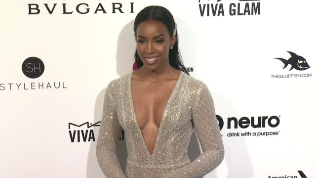 stockvideo's en b-roll-footage met kelly rowland at elton john aids foundation presents 24th annual academy awards viewing party on february 28, 2016 in west hollywood, california. - kelly rowland