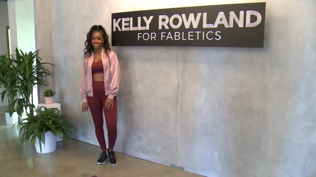 stockvideo's en b-roll-footage met kelly rowland at kelly rowland celebrates the launch of her capsule collection for fabletics in los angeles, ca 1/9/19 - kelly rowland
