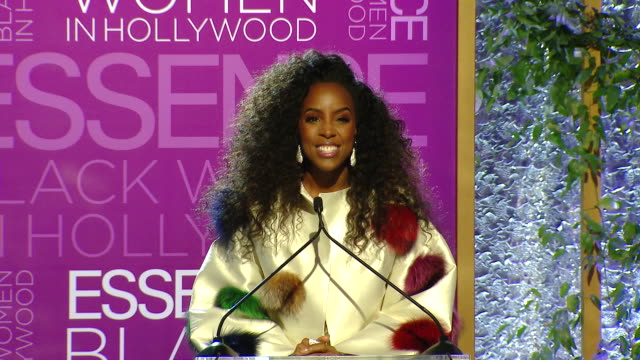 stockvideo's en b-roll-footage met kelly rowland at the 2019 essence black women in hollywood awards luncheon at the beverly wilshire four seasons hotel on february 21, 2019 in beverly... - kelly rowland