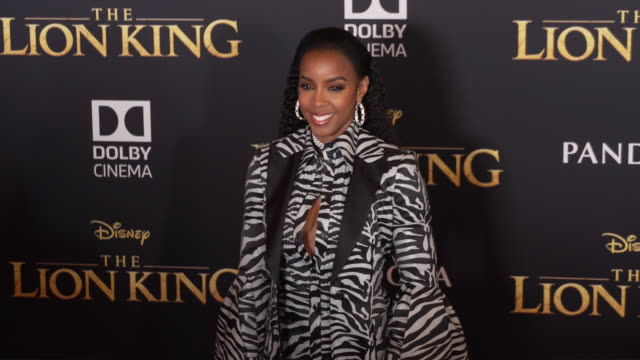 """stockvideo's en b-roll-footage met kelly rowland at the world premiere of disney's """"the lion king"""" at dolby theatre on july 09, 2019 in hollywood, california. - kelly rowland"""