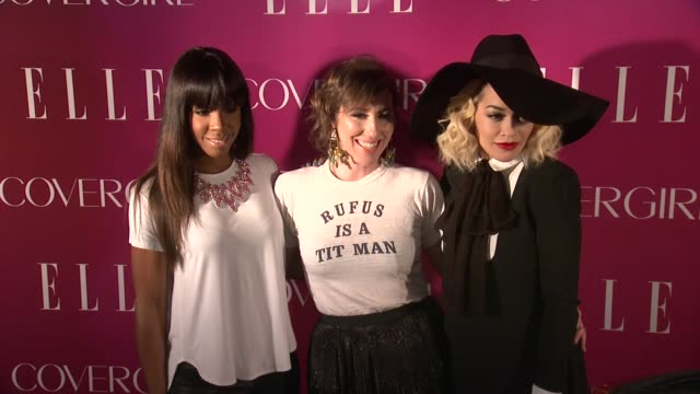 kelly rowland martha wainwright and rita ora at 4th annual elle women in music celebration arrivals at the edison ballroom on april 10 2013 in new... - edison ballroom stock videos & royalty-free footage