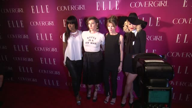kelly rowland martha wainwright robbie myers and rita ora at 4th annual elle women in music celebration arrivals at the edison ballroom on april 10... - edison ballroom stock videos & royalty-free footage