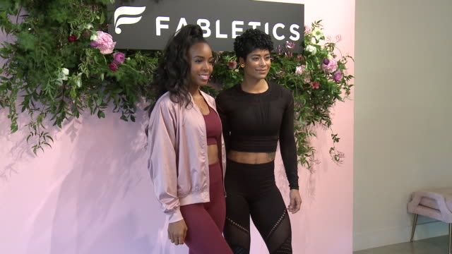 stockvideo's en b-roll-footage met kelly rowland, massy arias at kelly rowland celebrates the launch of her capsule collection for fabletics in los angeles, ca 1/9/19 - kelly rowland