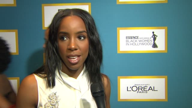 stockvideo's en b-roll-footage met kelly rowland on camaraderie at luncheon, why it's important that essence honors bwih each year, lack of diversity at oscars and if things will ever... - kelly rowland