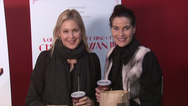 kelly rutherford and jennifer creel at a glimpse inside the mind of charles swan iii arrivals at landmark sunshine cinema on january 09 2013 in new... - kelly rutherford stock videos & royalty-free footage