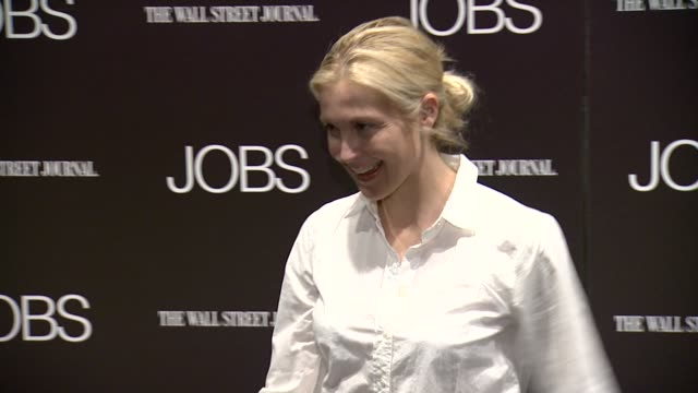 kelly rutherford at jobs new york premiere arrivals at moma on august 07 2013 in new york new york - kelly rutherford stock videos & royalty-free footage